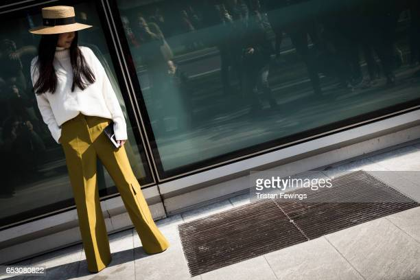 A general view ahead of the Giorgio Armani Show during Milan Fashion Week Fall/Winter 2017/18 on February 27 2017 in Milan Italy