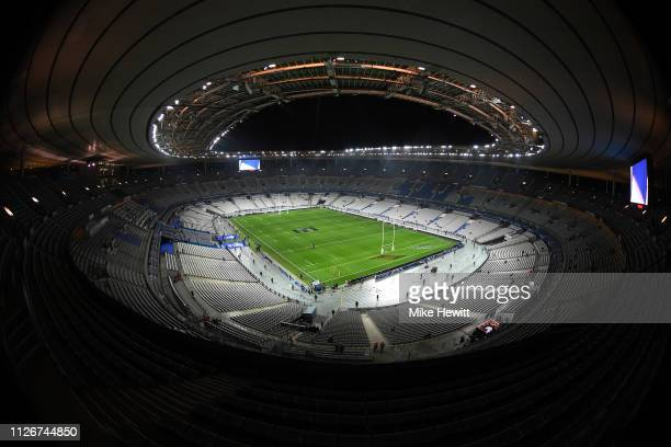 General view ahead of the Guinness Six Nations match between France and Wales at Stade de France on February 01, 2019 in Paris, France.
