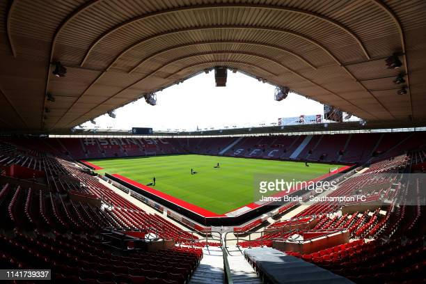 General view ahead of the International PL Cup match between Southampton FC and Dinamo Zabreb pictured at St Mary's Stadium on April 10 2019 in...