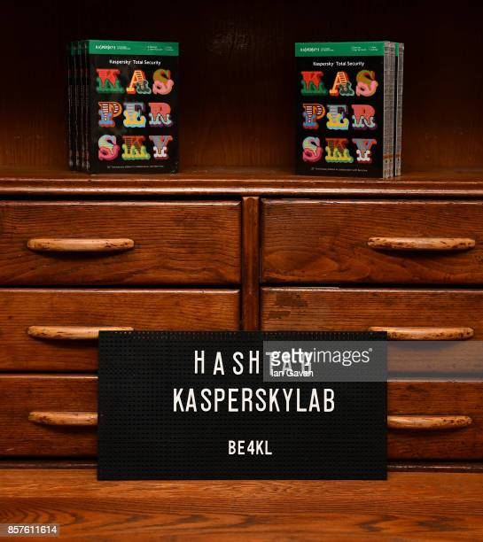 A general view ahead of the launch of the ad campaign film 'Back To Work' sealing the artistic collaboration between Kaspersky Lab and Ben Eine on...