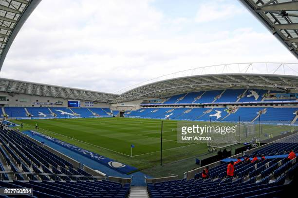 General view ahead of the Premier League match between Brighton and Hove Albion and Southampton at the Amex Stadium on October 29 2017 in Brighton...