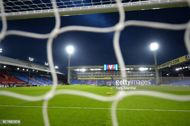 A general view ahead of the Premier League match between Crystal Palace and Manchester United at Selhurst Park on March 5 2018 in London England