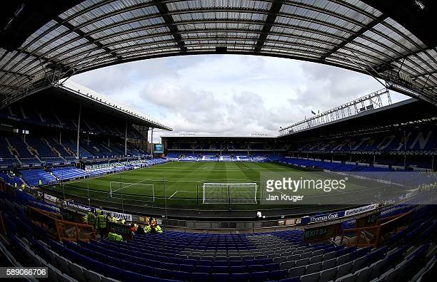 General view ahead of the Premier League match between Everton and Tottenham Hotspur at Goodison Park on August 13 2016 in Liverpool England