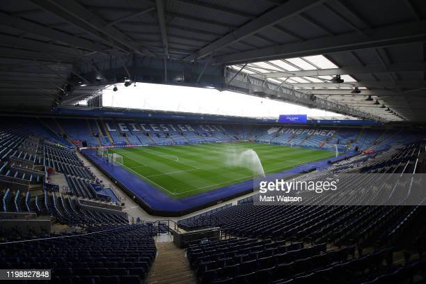 General view ahead of the Premier League match between Leicester City and Southampton FC at The King Power Stadium on January 11, 2020 in Leicester,...