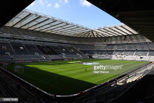 General view ahead of the Premier League match between Newcastle United and Southampton at St. James Park on August 28, 2021 in Newcastle upon Tyne,...