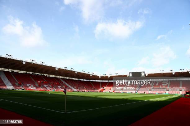 General view ahead of the Premier League match between Southampton FC and Tottenham Hotspur at St Mary's Stadium on March 09 2019 in Southampton...