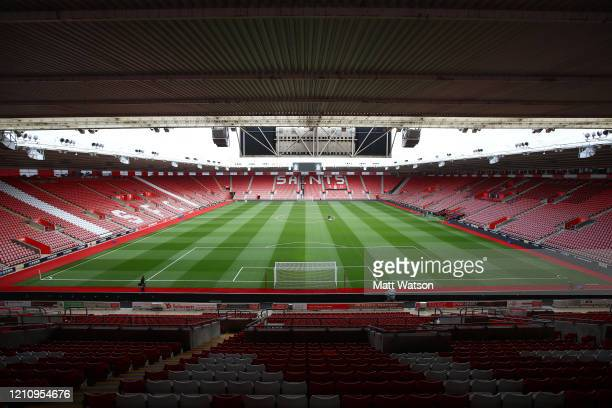 General view ahead of the Premier League match between Southampton FC and Newcastle United at St Mary's Stadium on March 07, 2020 in Southampton,...