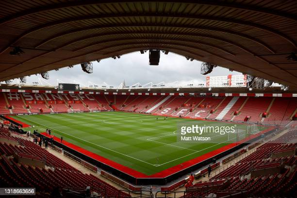 General view ahead of the Premier League match between Southampton and Leeds United at St Mary's Stadium on May 18, 2021 in Southampton, England.