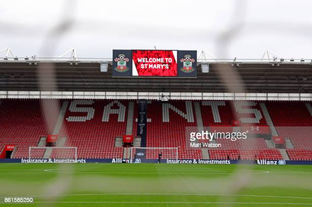 General view ahead of the Premier League match between Southampton and Newcastle United at St Mary's Stadium on October 15 2017 in Southampton England