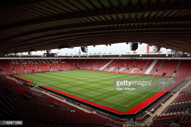 General view ahead of the Pre-Season Friendly match between Southampton FC and FC Köln at St. Mary's Stadium on August 03, 2019 in Southampton,...