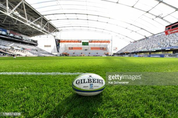 General view ahead of the round 10 Super Rugby Aotearoa match between the Highlanders and the Hurricanes at Forsyth Barr Stadium on August 15, 2020...