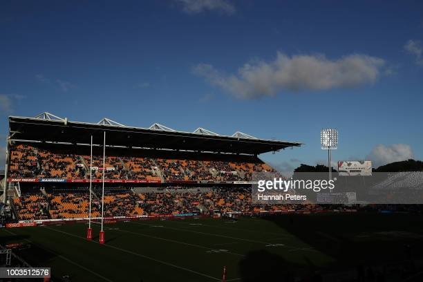 General view ahead of the round 19 NRL match between the New Zealand Warriors and the Melbourne Storm at Mt Smart Stadium on July 22, 2018 in...