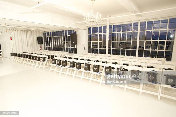 General view ahead of the Saint Wobil - Darius Wobil Spring 2012 fashion show during Mercedes-Benz Fashion Week at Studio 450 on September 12, 2011...
