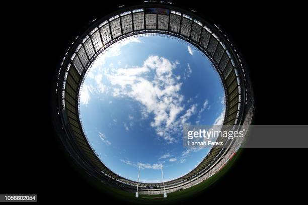 A general view ahead of the test match between Japan and the New Zealand All Blacks at Tokyo Stadium on November 3 2018 in Chofu Tokyo Japan