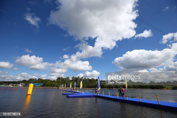 A general view ahead of the triathlon on Day eight of the European Championships Glasgow 2018 at Strathclyde Country Park on August 9 2018 in Glasgow...