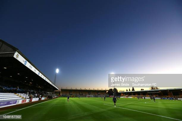 General view ahead of the U21s Checkatade Trophy between Cambridge United and Southampton FC pictured at Abbey Stadium on October 9, 2018 in...