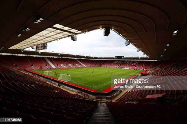 General View ahead of the U23s PL2 Play off SemiFinal between Southampton FC and Aston Villa FC pictured at St Mary's Stadium on May 03 2019 in...