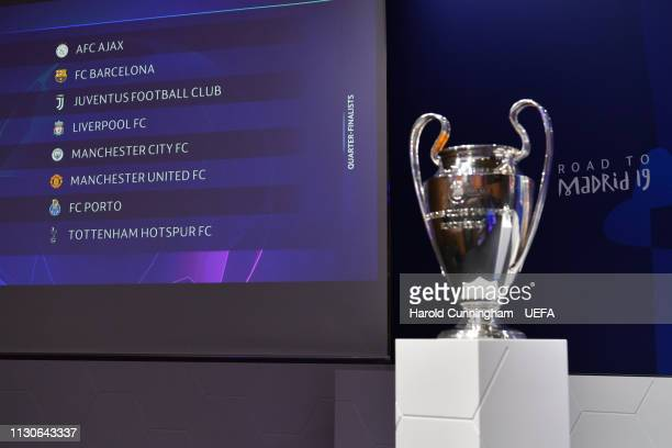 A general view ahead of the UEFA Champions League 2018/19 Quarterfinal Semifinal and Final draws at the UEFA headquarters The House of European...