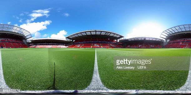 A general view ahead of the UEFA Champions League group E match between Liverpool FC and Sevilla FC at Anfield on September 13 2017 in Liverpool...