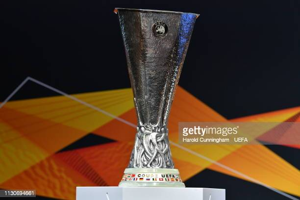 A general view ahead of the UEFA Europa League 2018/19 Quarterfinal Semifinal and Final draws at the UEFA headquarters The House of European Football...