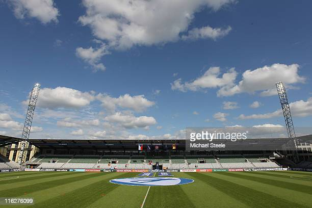 General view ahead of the UEFA European Under21 Championship Group B match between Czech Republic and Spain at the Viborg Stadium on June 15 2011 in...