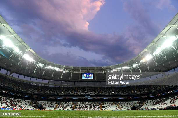 A general view ahead of the UEFA Super Cup match between Liverpool and Chelsea at Vodafone Park on August 14 2019 in Istanbul Turkey