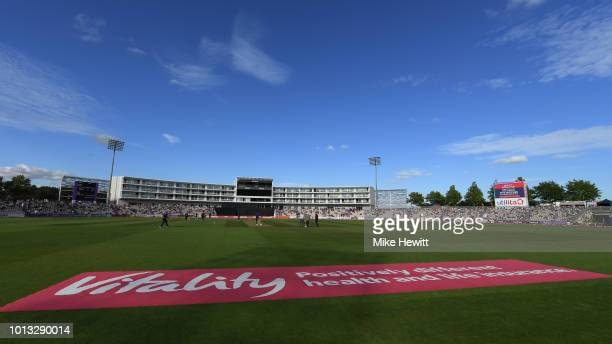 General view ahead of the Vitality Blast match between Hampshire and Somerset at The Ageas Bowl on August 8 2018 in Southampton England