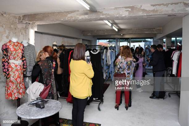 A general view ahead the Asli Filinta show during Mercedes Benz Fashion Week Istanbul at on March 29 2018 in Istanbul Turkey