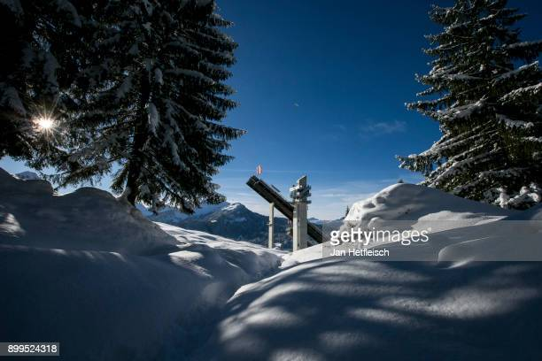 A general view ahead the qualification round for the Four Hills Tournament on December 29 2017 in Oberstdorf Germany