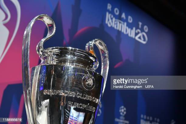 A general view ahead the UEFA Champions League 2019/20 Round of 16 Draw at the UEFA headquarters The House of European Football on December 16 2019...