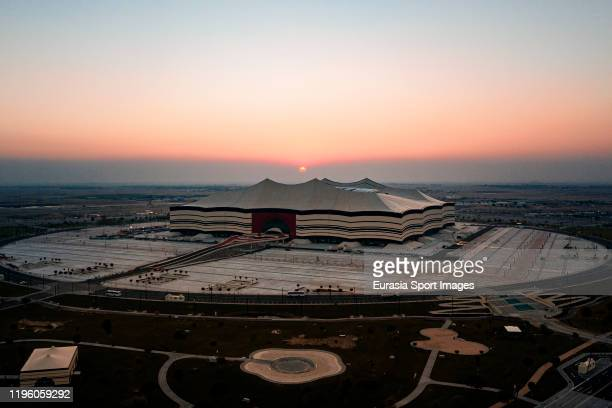 General view Al Bayt Stadium on December 19, 2019 at Al Khor City, Qatar.