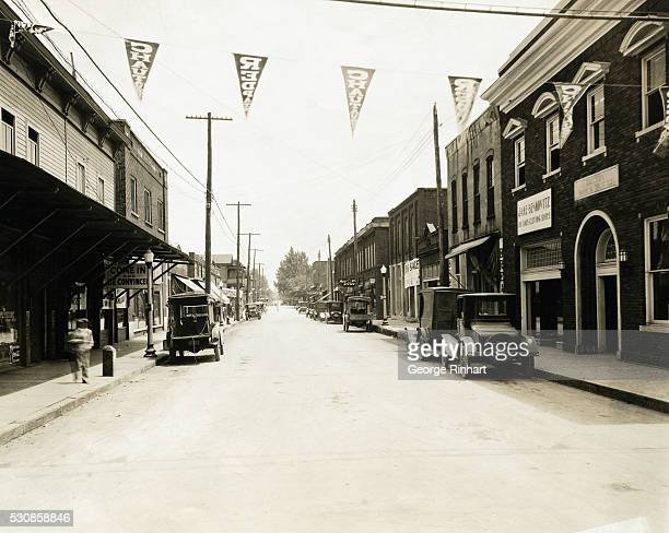 General view along the principle street of Dayton the tiny Tennessee town that has leaped into worldwide prominence as the scene of the trial opening...
