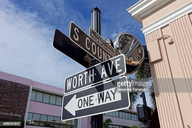 General view along Worth Avenue in Palm Beach Florida where Sofia Vergara and Joe Manganiello will be getting married November 20 2015 in Palm Beach...