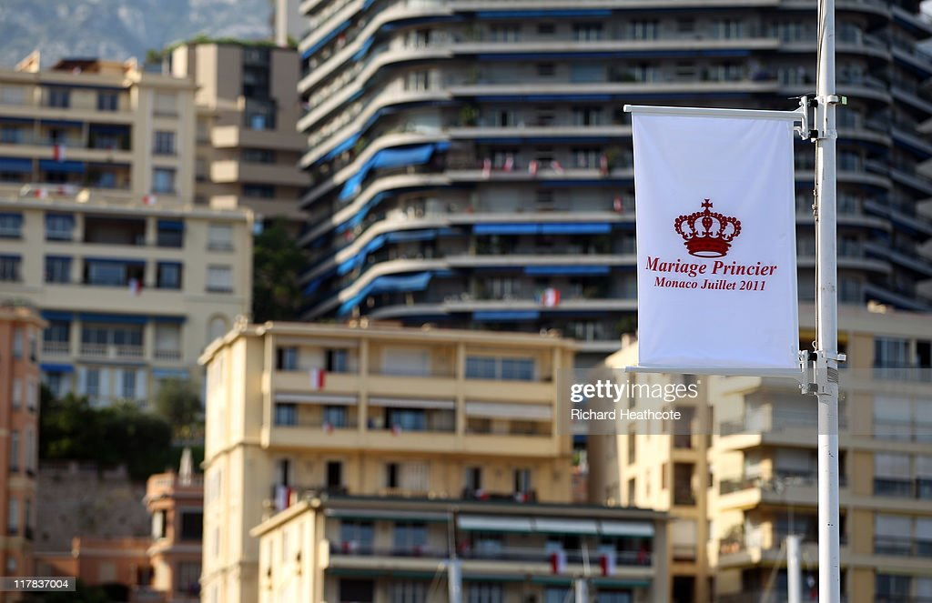 A general view around Monaco during preparations ahead of the Royal Wedding of Prince Albert II of Monaco to Charlene Wittstock on June 30, 2011 in Monaco. The civil ceremony will take place in the Throne Room of the Prince's Palace of Monaco on July 1, followed by a religious ceremony to be conducted in the main courtyard of the Palace on July 2. With her marriage to the head of state of Principality of Monaco, Charlene Wittstock will become Princess consort of Monaco and gain the title, Princess Charlene of Monaco. Celebrations including concerts and firework displays are being held across several days, attended by a guest list of global celebrities and heads of state.