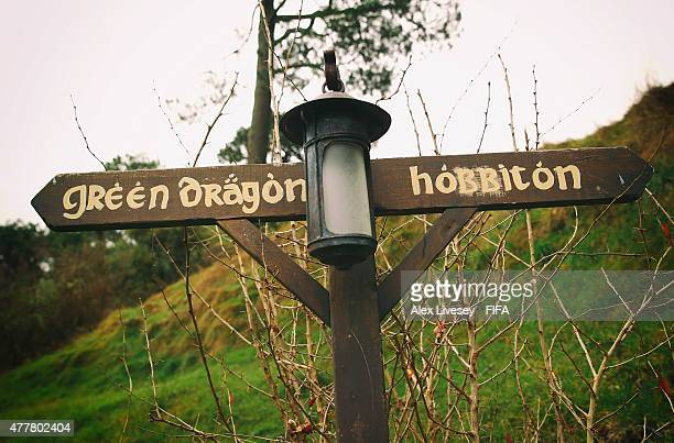 A general view around the Shire is seen at the Hobbiton Movie Set where Lord of the Rings and The Hobbit trilogies were filmed during the FIFA U20...