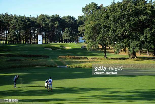 General view as Alvaro Quiros of Spain plays his second shot of the 7th hole during Day One of the BMW PGA Championship at Wentworth Golf Club on...