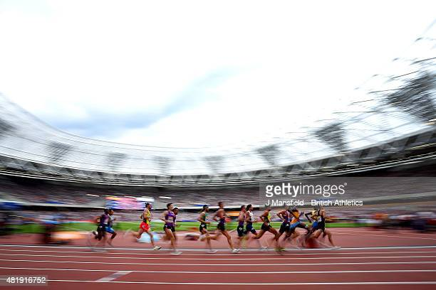 General view as athletes compete in the Emsley Carr Mile during Day Two of the Sainsbury's Anniversary Games Diamond League event at The Stadium -...