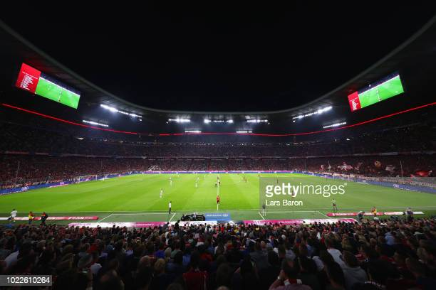 A general view as Bayern Munich kick off during the Bundesliga match between FC Bayern Muenchen and TSG 1899 Hoffenheim at Allianz Arena on August 24...