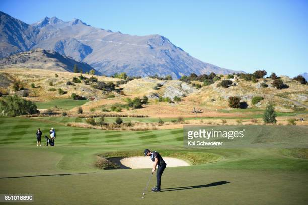 General view as Ben Campbell of New Zealand putts during day two of the New Zealand Open at The Hills on March 10 2017 in Queenstown New Zealand