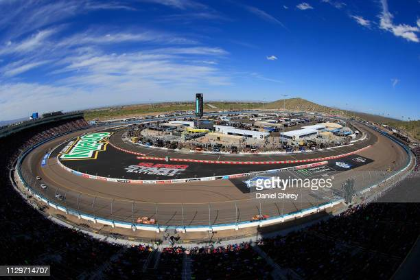A general view as cars race during the Monster Energy NASCAR Cup Series TicketGuardian 500 at ISM Raceway on March 10 2019 in Avondale Arizona