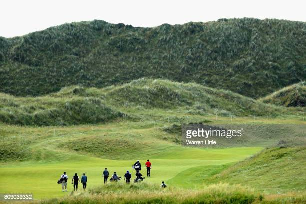 A general view as compeititors make their way down the fairway during the ProAm of the Dubai Duty Free Irish Open at Portstewart Golf Club on July 5...