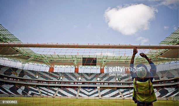 A general view as construction on the Mbombela Soccer Stadium is completed within time and budget on October 15 2009 in Nelspruit South Africa The...