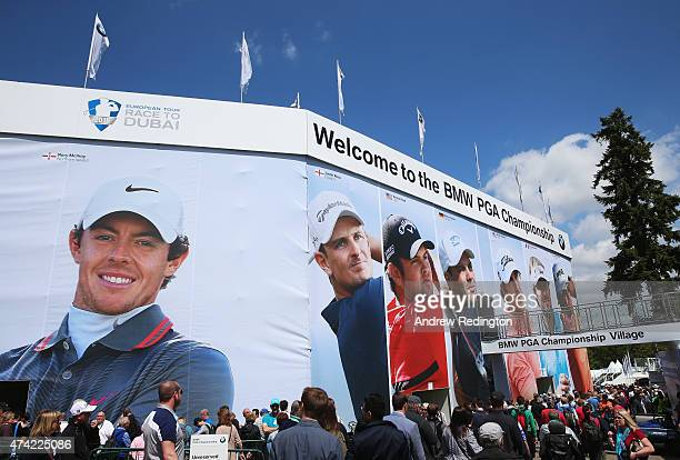 A general view as crowds gather in the Championship Village during day 1 of the BMW PGA Championship at Wentworth on May 21 2015 in Virginia Water...