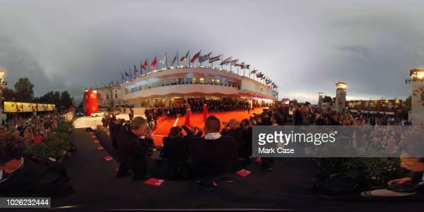 General view as Dakota Johnson and Tilda Swinton walk the red carpet ahead of the 'Suspiria' screening during the 75th Venice Film Festival at Sala...