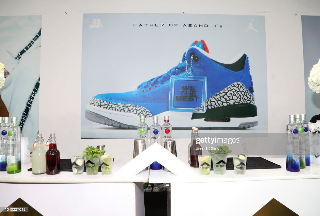 sports shoes 115f0 bee49 General view as DJ Khaled And Brand Jordan Unveil The ...