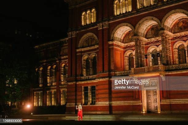 A general view as Ellie Goulding performs at The VA on August 26 2020 in London England The performance was live streamed for ticket holders during...