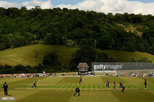 General view as England bat during the One Day International match between England Women and Australia Women at Wormsley Cricket Ground on July 5,...