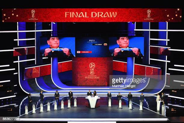 A general view as England is drawn during the Final Draw for the 2018 FIFA World Cup Russia at the State Kremlin Palace on December 1 2017 in Moscow...