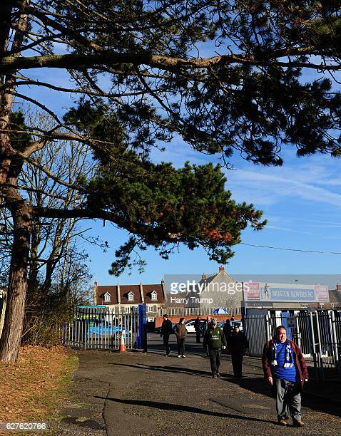 General view as fans start to arrive during the Emirates FA Cup Second Round match between Bristol Rovers and Barrow FC at the Memorial Stadium on...