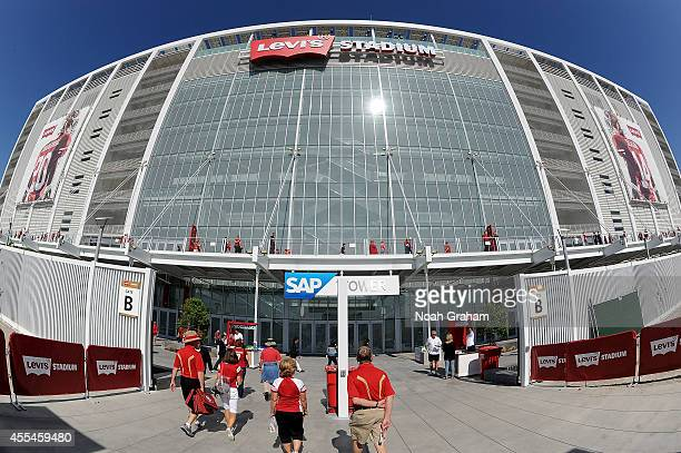 General view as fans walk into the stadium before the game between the San Francisco 49ers and the Chicago Bears at Levi's Stadium on September 14,...